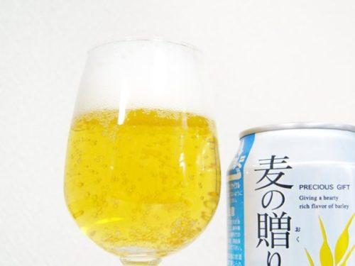 韓国ビール「麦の贈りものプリン体0糖質0」
