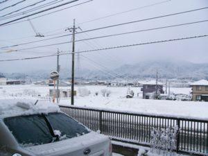 初雪の報告